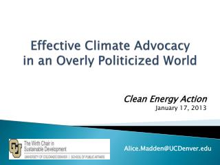 Effective Climate Advocacy  in an Overly Politicized World