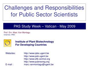 Challenges and Responsibilities for Public Sector Scientists
