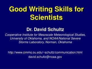 Good Writing Skills for Scientists