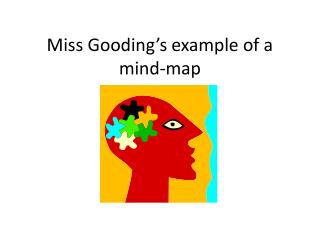 Miss Gooding's example of a mind-map