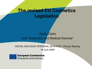The revised EU Cosmetics Legislation