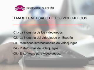 01.- La industria de los videojuegos 02.- La industria del videojuego en España