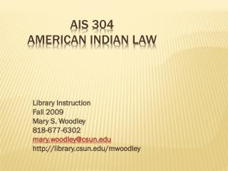 AIS 304 American indian Law