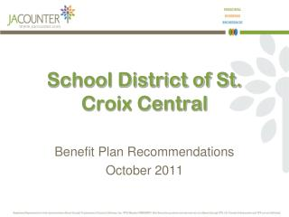 School District of St. Croix Central