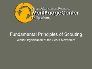 Fundamental Principles of Scouting