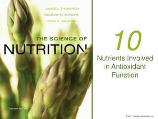 Nutrients Involved in Antioxidant Function
