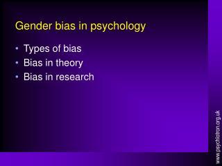 Gender bias in psychology
