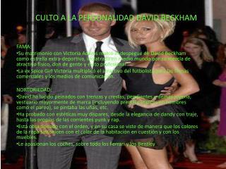 CULTO A LA PERSONALIDAD DAVID BECKHAM