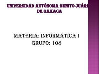 Universidad autónoma Benito Juárez de Oaxaca