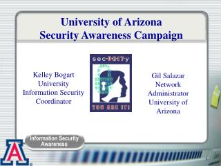 University of Arizona Security Awareness Campaign