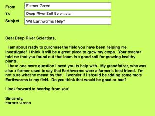 Dear Deep River Scientists,