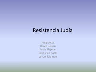 Resistencia Judía