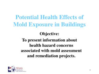 Potential Health Effects of  Mold Exposure in Buildings