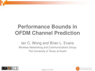 Performance Bounds in OFDM Channel Prediction