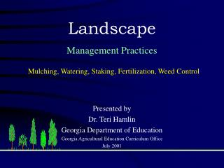 Presented by  Dr. Teri Hamlin Georgia Department of Education