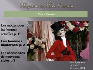 Magazine de  Mode  Française