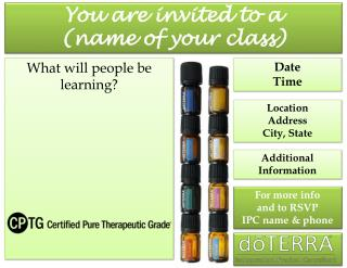 You are invited to a (name of your class)