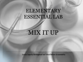Elementary  Essential Lab MIX IT UP