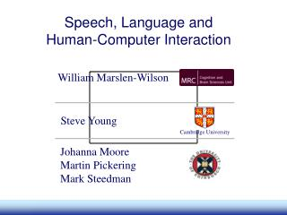 Speech, Language and Human-Computer Interaction