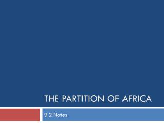 The Partition of Africa