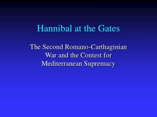 Hannibal at the Gates
