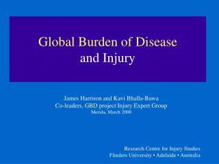 Global Burden of Disease and Injury