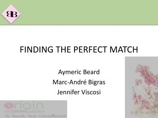 FINDING THE PERFECT MATCH