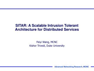 SITAR: A Scalable Intrusion Tolerant Architecture for Distributed Services