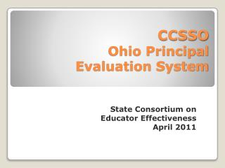 CCSSO Ohio Principal  Evaluation System