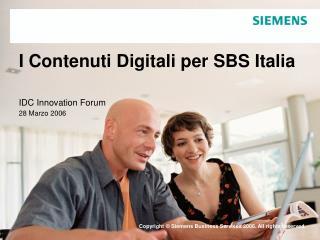 I Contenuti Digitali per SBS Italia