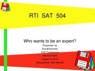 RTI  SAT  504