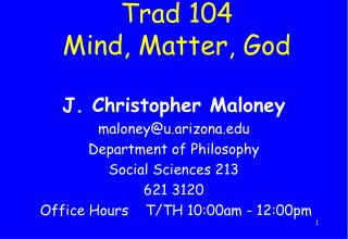 Trad 104 Mind, Matter, God