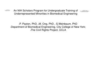 NIH Undergraduate Minority Scholars Program