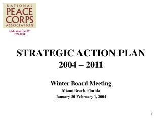STRATEGIC ACTION PLAN 2004 – 2011