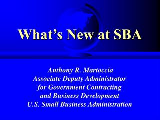 What's New at SBA