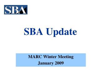 SBA Update