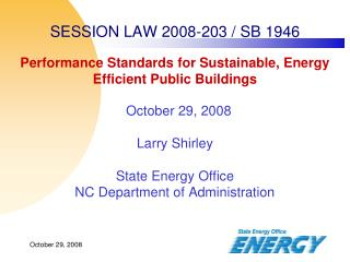 SESSION LAW 2008-203 / SB 1946