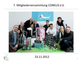 7. Mitgliederversammlung CONELIS e.V.