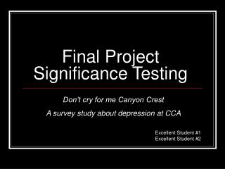 Final Project Significance Testing