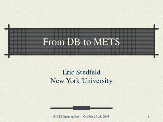 From DB to METS