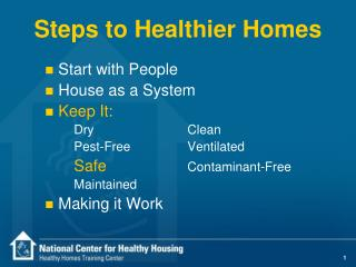 Steps to Healthier Homes