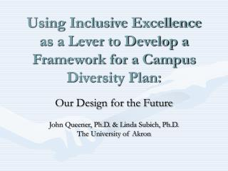 Using Inclusive Excellence as a Lever to Develop a Framework for a Campus Diversity Plan: