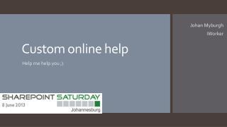 Custom online help