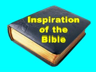 Inspiration of the Bible