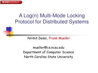 A Log(n) Multi-Mode Locking Protocol for Distributed Systems
