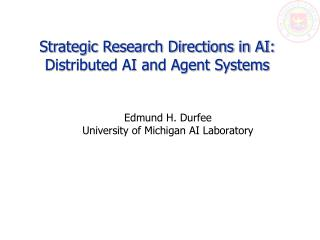 Strategic Research Directions in AI: Distributed AI and Agent Systems