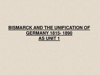 extent bismarck responsible unification germany The unification of germany 1864-1871 there was a strong popular movement for unification but neither austria nor prussia was bismarck and germany 1862.