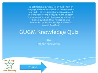 GUGM Knowledge Quiz