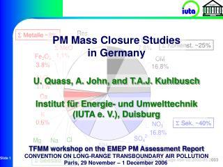 Institut für Energie- und Umwelttechnik  (IUTA e. V.), Duisburg