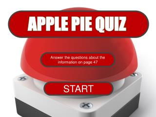 APPLE PIE QUIZ